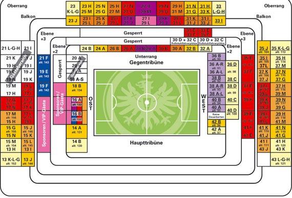 Saalplan Commerzbank Arena Frankfurt